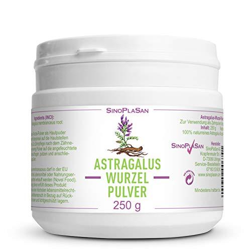 Astragalus-Wurzel-Pulver (Astragalus membranaceus) | 250g | 100% naturrein ohne Zusätze | höchste Qualität | VEGAN | Meshfaktor 80 | Tragant