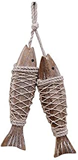 Best hanging wooden fish ornaments Reviews
