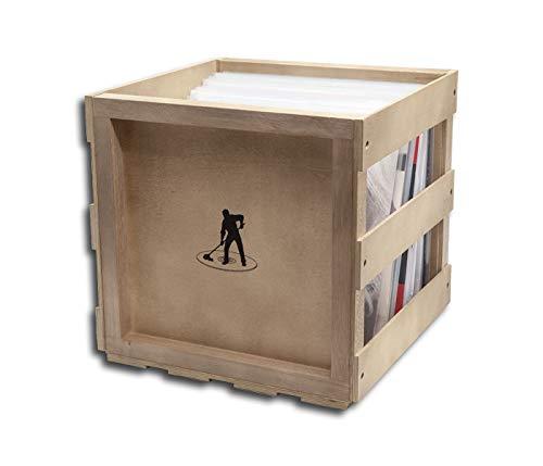 Protected Schallplatten Holzbox stapelbar