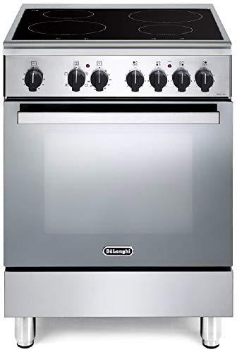 De Longhi DMX 64 IN ED - Cucina a induzione con forno elettrico ventilato, 60x60 cm, Classe A, Inox