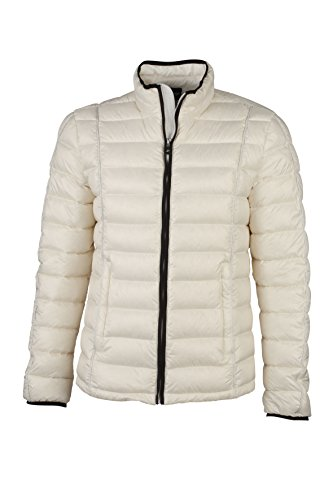JAMES & NICHOLSON Daunenjacke Men's Quilted Down Jacket Blouson, Blanc (Off-White/Black), (Taille Fabricant: Small) Homme