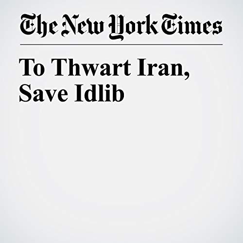 To Thwart Iran, Save Idlib copertina