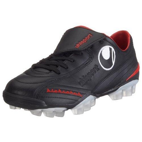 Uhlsport Kickschuh Klassik HXG 100817001, Unisex - Erwachsene Sportschuhe - Fusball, schwarz, (black/red 01), EU 44, (UK 9 1/2)