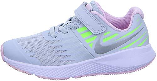 Nike Mädchen Star Runner (PSV) Leichtathletikschuhe, Mehrfarbig (Pure Platinum/Metallic Silver/Lime Blast 005), 28 EU