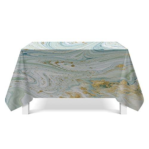 DSman Bordsduk med lotuseffekt – bordslinne i linne utseende förgylld texturkonst