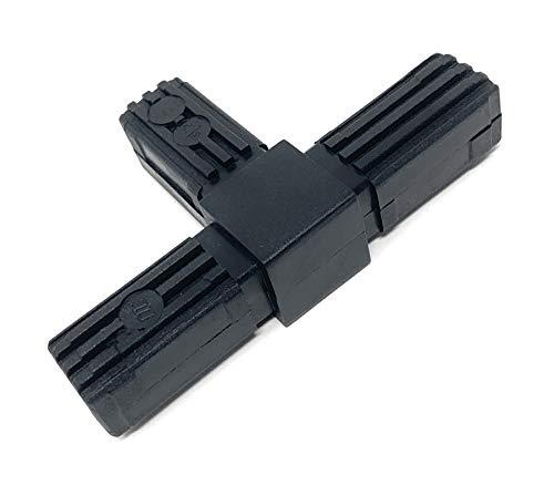 Design61 5x Steckverbinder T-Stück für Vierkantrohre Rohrverbinder 20 x 20 x 1,5 mm