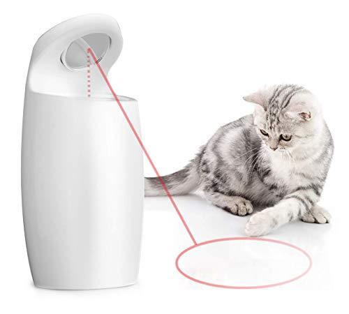 LAKHAH Juguete Ligero para Gatos, Juguetes interactivos para Perros, 2 velocidades, Juguetes de Haz automático Giratorio para Gatos, Recargable