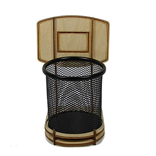 Tashido Portalápices de oficina Fai-Da-Te - Portalápices de baloncesto - Portalápices de metal - Fan de baloncesto como juguete de descompresión