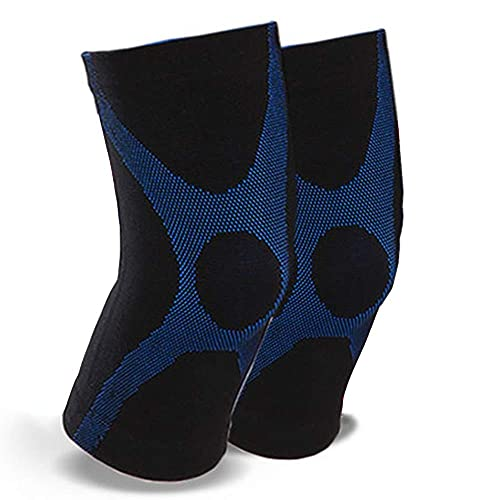 AWJ Rodilleras con Mangas de compresión Invierno para Hombres y Mujeres Protección contra el frío y el Calor Equipo de protección para Las articulaciones (Paquete de 2) Almohadillas para la artr