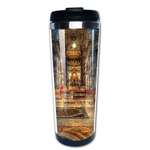 Taza de café de viaje Catedral de San Pedro Taza de café con aislamiento de acero inoxidable Botella de agua deportiva 13.5 Oz (400 ml) MUG-2888