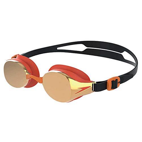 Speedo Unisex-Jugend Hydropure Mirror Junior Goggle Schwimmbrille, Schwarz, Einheitsgröße