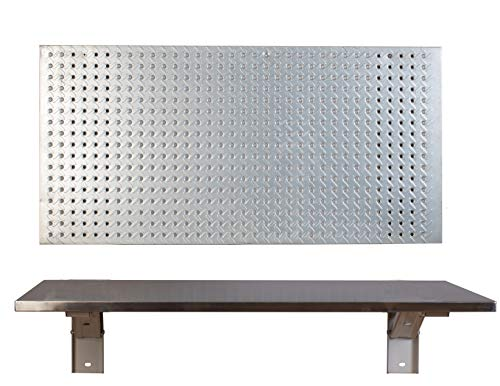 The Quick Bench Stainless Steel Folding Wall Mounted Workbench, 20 x 36