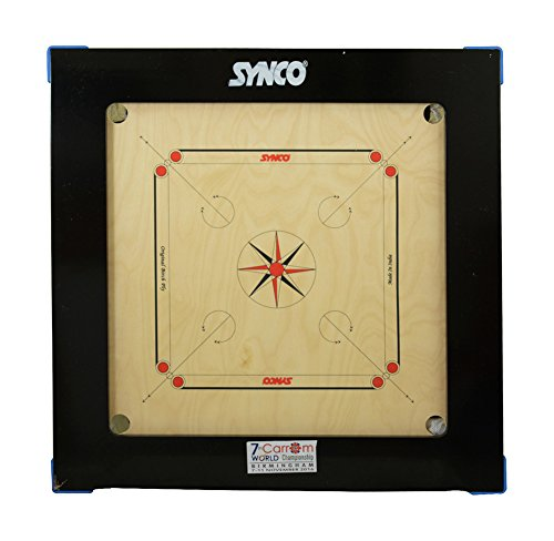 Synco MYSPOGA_1513562 Other Jumbo Genius 36 Mm Carrom Board with 5'X2' Border, Others (Multicolor)