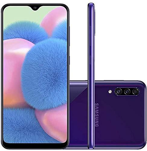 Smartphone Samsung Galaxy A30S 64Gb Dual Chip Android 9.0 Tela 6.4' Octa-Core 4G Câmera Tripla 25Mp + 5Mp + 8Mp - Violeta