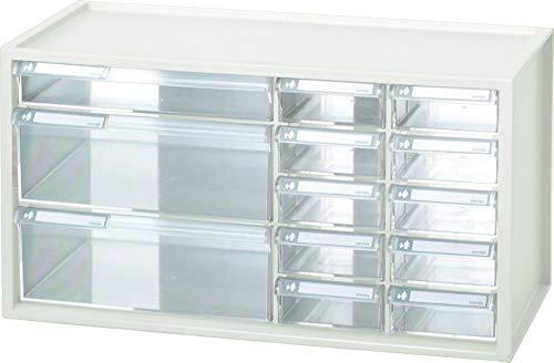 livinbox 13 Schubladen Schubladenschrank Schubladenbox Werkzeugschrank Organizer auf dem Tisch Schreibtisch für Büro, Aufbewahrungsbox aus Kunststoff A9-2110 Weiß