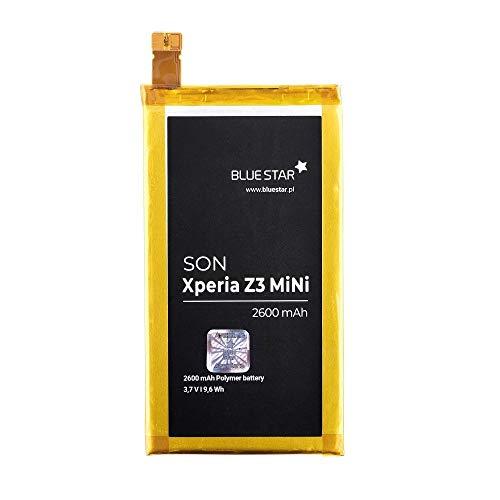 Blue Star Premium - Li-Ion Lithium Akku 2600 mAh Kapazität Schnellladung 2.0 Kompatibel mit dem Sony Xperia Z3 Compact / Z3 mini
