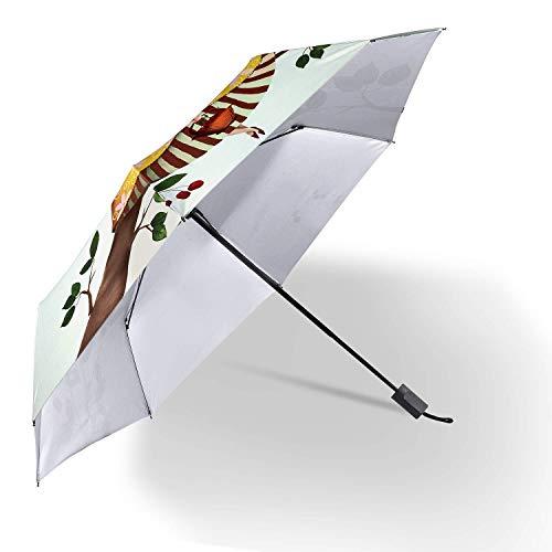 Guarda-chuva, guarda-chuva, à prova de vento, guarda-chuva dobrável, proporção de proteção contra chuva e sombra 100% proteção solar, proporção de corte 99,9% de proteção contra luz, isolamento térmico, repelente de vento e água, feminino, dobrável, um
