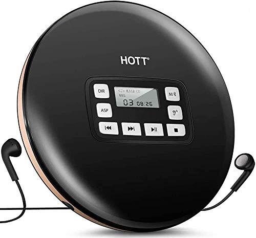 CFZC MP3-Player mit Bluetooth, 8GBit-Bluetooth-MP3-Player mit Clip, unterstützt FM-Radio, erweiterbarer Mikro-SD-Steckplatz, unterstützt 64GBit Schwarz