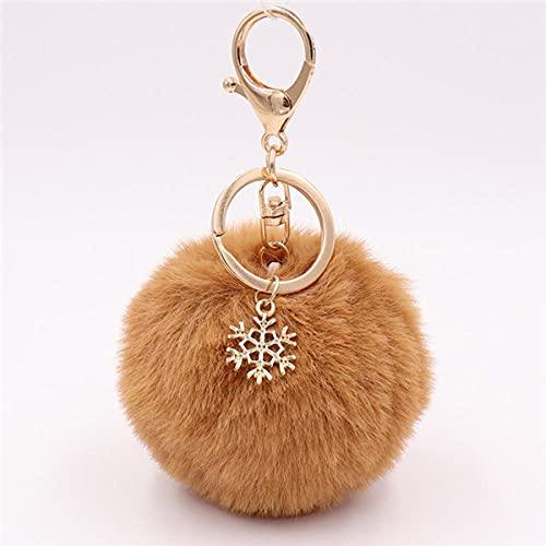 Llavero Colgante Encantos Peludo Esponjoso Llavero De Bola De Felpa para Mujer Bolsa Accesorios Ornamento-12