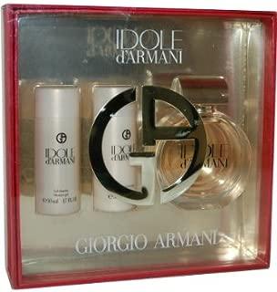 Idole d'Armani by Giorgio Armani for Women - 3 Pc Gift Set 2.5oz EDP Spray, 1.7oz Body Lotion, 1.7oz Shower Gel