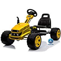 PEKECARS Kart a Pedales Cat Style Amarillo