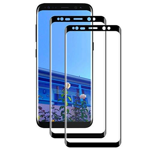 KIKIXF S8 Plus Panzerglas (2 Stück),Galaxy S8 Plus Panzerglas [3D Ultra-Clear] [Anti-Kratzer] [9H Härte] [Bubble Free] [Einfache Installation] Displayschutzfolie für Samsung Galaxy S8 Plus