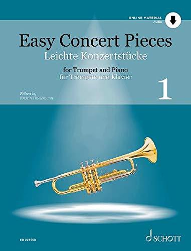 Easy Concert Pieces: 22 Pieces from 5 Centuries. Band 1. Trompete und Klavier. Ausgabe mit Online-Audiodatei.: 22 Pieces from 5 Centuries. Ausgabe mit Online-Audiodatei.