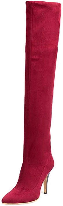 2018 New, Women's Super Sexy OgreenheKnee Thigh Boots, Girls Trendy High UltraFine Slim Silky High Heels