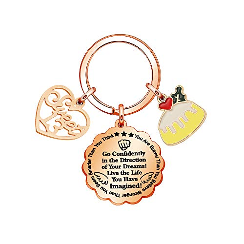 ACAROMAY Inspirate Birthday Keychain Rings Rose Gold Color 13th 16th 18th 21th Key Chain Appreciation Perfect 30s 40s 50s Key Chain (13TH)