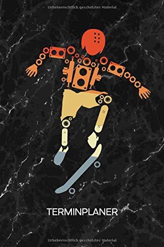 TERMINPLANER: Punk Kalender Mo. bis So. - Freizeit Terminkalender - Skateboardfahren Wochenplaner Rollbrett Taschenkalender für To-Do Liste & Termine - Skateboarder Skating Motiv