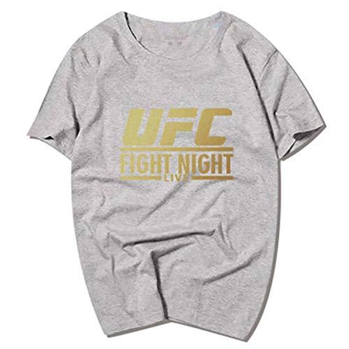 Camisetas Mange Junior Mange, MMA Fitness UFC Carta DE TRAMPADORES DE TRAMPADOR, Soft Y COMFORTE (Size : XXX-Large)
