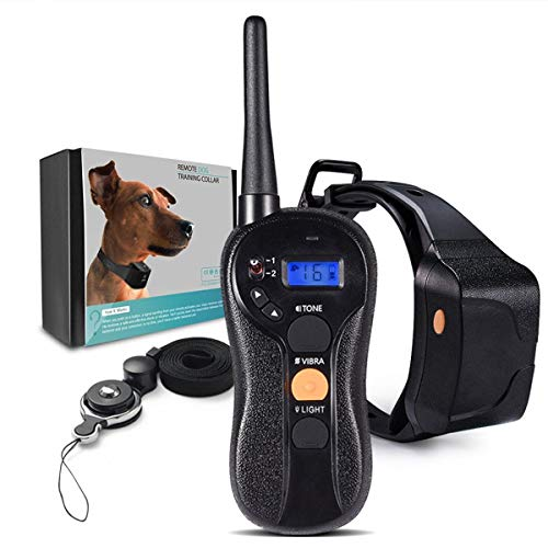 IP * 7 Bark Collar, Anti Barking Gerät - Humane - Vibration Schallpflege Flash-Modi for die Taste - for Small, Medium, Large Hunde Rassen - No Harm Abschreckungs Reflective vibrierender Kontrolle