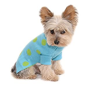 Stinky G Polka Dot Dog Sweater with Rolled Neckline Multiple Colors