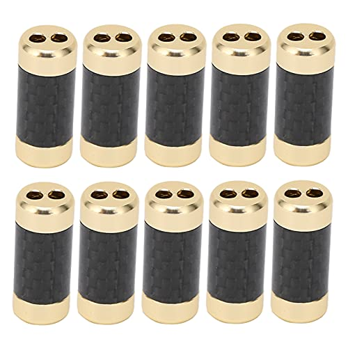 Eulbevoli Divisor coaxial, Divisor de Cable Carcasa de Metal de Fibra de Carbono para Auriculares para teléfonos Inteligentes para tabletas