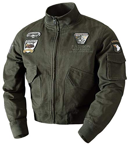 Klassieke heren Air Force Fashion Jacket Flight jas jongens pilot bomber tops katoen bovenkleding windbreaker