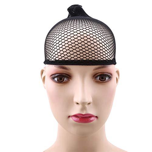 Idiytip Wig Net Cap Stretch Mesh Wig Cap Elastic Net Weaving Cap Durable Wig Stocking Cap Soft Mesh