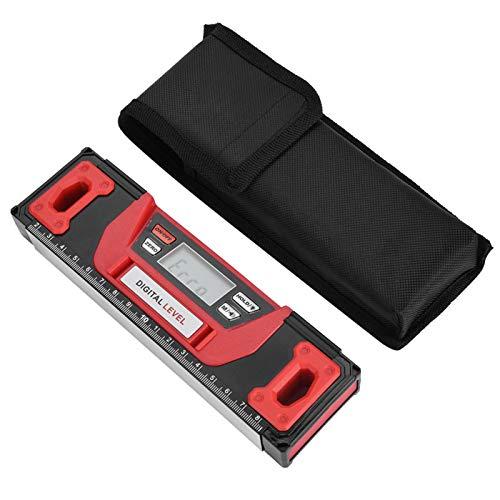 Demeras conveniencia para Uso Nocturno LCD Transparente Duradero de Usar Inclinómetro Digital Base magnética de 200 mm Inclinómetro para Trabajos de construcción para mediciones