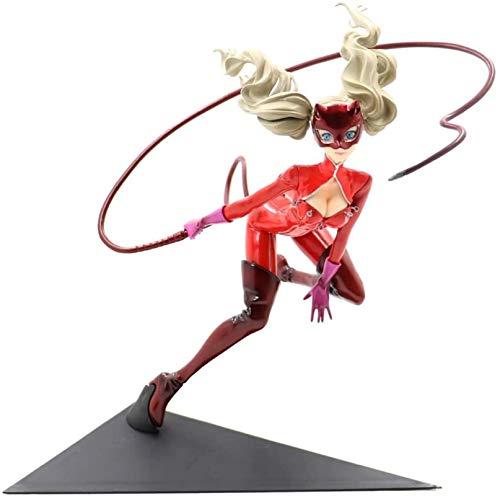EDMONG Anime Figuren, Persona 5 Figur Anne Takamaki Seltsamer Dieb Anime Charakter Modell Boxed Statische Charakter Desktop Dekoration Höhe 25 cm Fahrgestell Raumdekoration