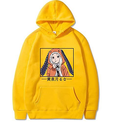 Kakegurui Runa Yomozuki Hoodies Anime Langarm Pullover Anime Tops Sweatshirt Frauen