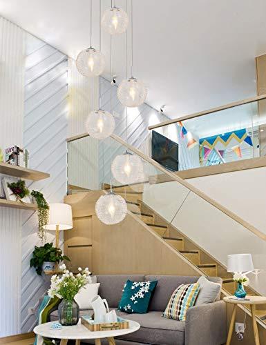 6 luces Hotel Villa Escalera Colgante de techo alto Luz Mini