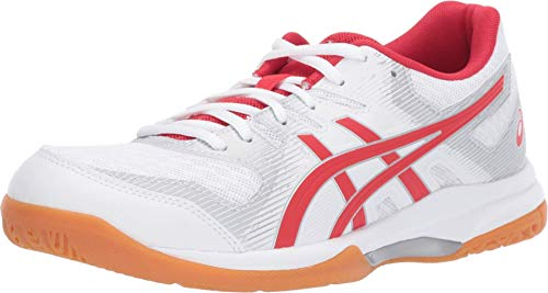 ASICS Women's Gel-Rocket 9 Volleyball Shoes, 7M, White/Classic RED