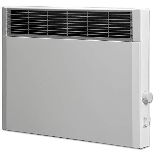 Elektroheizung, Heizkörper, Speicherheizung/Schamottespeicher mit integrierten Thermostat und Wandhalterung - 1000 Watt - Maße: (BxHxT): 41,5cm x 44,5cm x 8,5cm