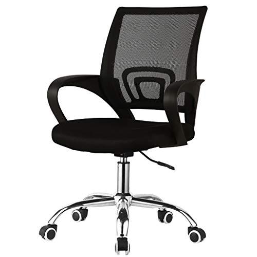 Goquik bureaustoel - zwart - zacht en comfortabel - metalen statief met wielen - Gaming-zwart oranje groen optioneel