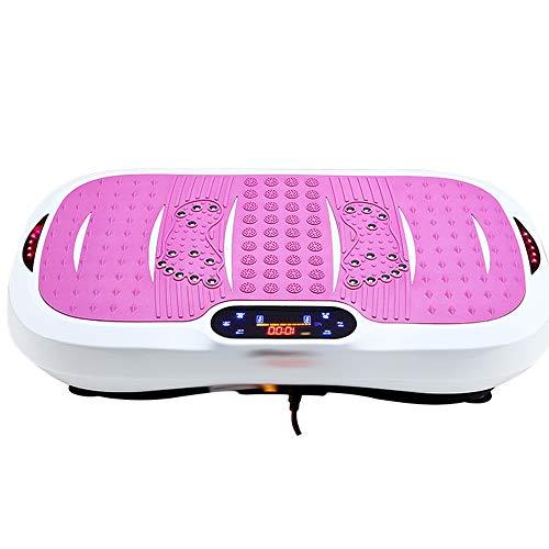 Plataforma de vibración Máquinas, la música disco de Bluetooth + UU, con pantalla LCD de control remoto táctil y controlar el color dual de todo el cuerpo completo del masaje del ajuste Vibratoria