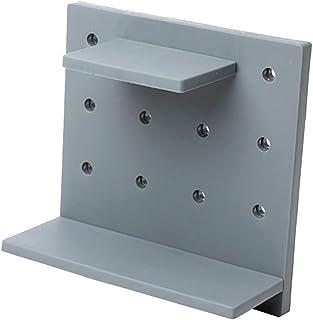 CUTICATE 自己接着キッチン収納棚オーガナイザー浴室壁収納ラック - グレー