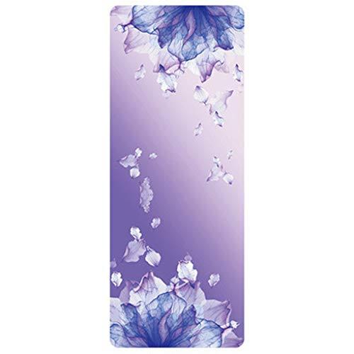 Andouy Yoga Handtuch Drucken Fitnesstuch - rutschfest, Leicht, Recyceltes, Saugfähiges Mikrofaser Yogahandtuch für Hot Yoga Bikram Ashtanga und Pilates(183X68X1.5CM.A)