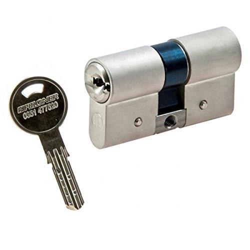 CES WSM Wendeschlüssel-Doppelzylinder mit Not- und Gefahrenfunktion 30/30 inkl. 5 Schlüssel - Sicherheitszylinder - inkl. Sicherungskarte - verschiedenschließend