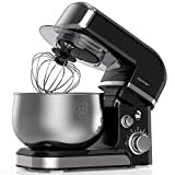 Lilpartner Stand Mixer, 1000W Professional Electric Kitchen Mixer Food Mixer, 6-Speed Tilt-Head Dough Mixer with 3.5L Stainless Steel Bowl, Mixing Beater, Whisk, Dough Hook, Scraper &Splash Guard