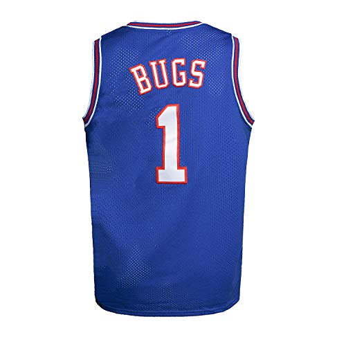 Youth Basketball Jersey Bugs #1 Moive Space Jam Jersey Boys Sport...