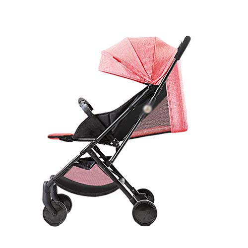 Great Deal! Stroller Folding High Light Can Sit RecliningLandscape Baby Reclining Seat (Color : Pink...